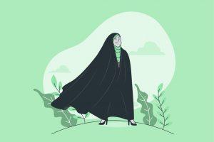 وکتور خانم چادری