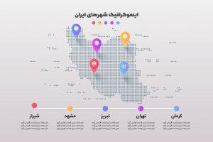 اینفوگرافیک نقشه ایران