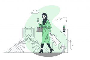 وکتور حجاب ایرانی